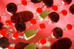 成串珠状红色一些 免版税图库摄影