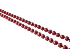 成串珠状红色 免版税图库摄影