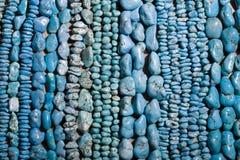 成串珠状绿松石 免版税库存照片