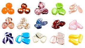 成串珠状美丽的捷克玻璃 免版税图库摄影