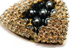 成串珠状美丽的装饰的字符串 免版税库存图片