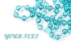 成串珠状美丽的项链字符串 免版税库存图片
