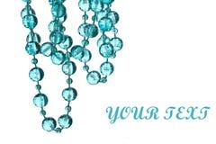 成串珠状美丽的项链字符串 库存图片
