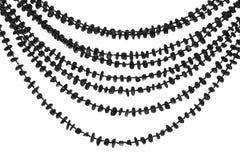 成串珠状自然石头,玛瑙 免版税库存图片