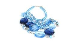 成串珠状蓝色玻璃 图库摄影