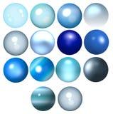 成串珠状蓝色 免版税库存照片