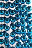 成串珠状蓝色 库存照片