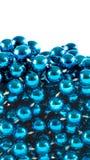 成串珠状蓝色 库存图片