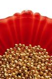 成串珠状金子 库存照片