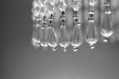 成串珠状水晶玻璃 库存照片