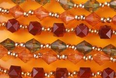 成串珠状水晶 免版税库存照片