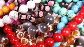 成串珠状jewelery当时尚背景 股票视频