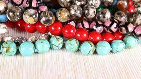 成串珠状jewelery当时尚背景 股票录像