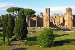 212 217 537 847浴浴成为大厦不是豪华最罗马使用的战争是水是的被建立的caracalla通道复杂d被毁坏的地震 免版税库存照片