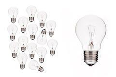 成为大电灯泡企业想法 免版税库存照片