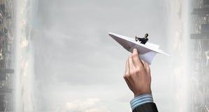 成为的作梦飞行员 免版税库存照片