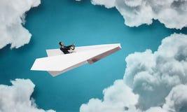 成为的作梦飞行员 免版税图库摄影
