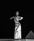 成为的沈默差事到迷宫现代舞蹈舞蹈动作设计者玛莎・葛兰姆里 免版税库存照片