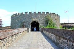成交城堡入口肯特英国 免版税库存图片