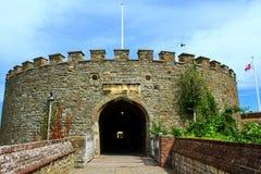 成交城堡门肯特英国 库存图片