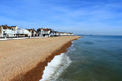 成交海滩英吉利海峡英国 免版税库存照片