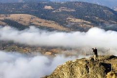 成人人摄影师Okanagan谷 免版税库存照片