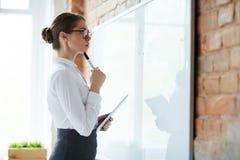 成人企业生意人成熟刺激工作 免版税库存图片