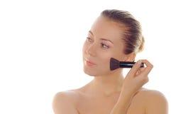成人健康纵向皮肤妇女年轻人 库存图片