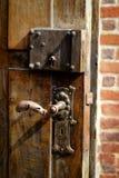 成人儿童门把手暂挂锁定 免版税图库摄影