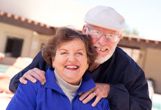 成人夫妇愉快的前辈 免版税库存图片