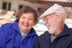 成人夫妇愉快的前辈 免版税库存照片