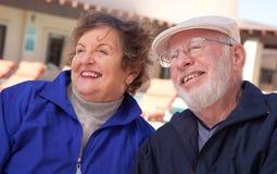 成人夫妇愉快的前辈 库存照片
