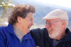 成人夫妇愉快的前辈 库存图片