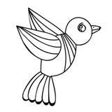 成人或儿童彩图和页的鸟 皇族释放例证