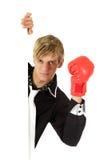 成人拳击手套年轻人 免版税图库摄影