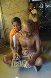 成人教育农村的印度 免版税图库摄影