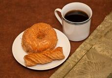 成人早餐早晨冲了 库存图片
