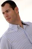 成人有角度的英俊的男性纵向年轻人 免版税图库摄影
