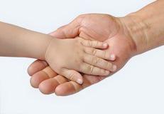 成人的和婴孩的现有量 免版税库存图片