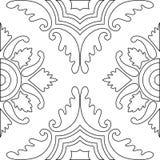 成人的独特的彩图正方形页-无缝的样式 库存图片