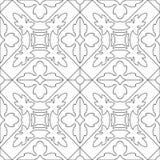 成人的独特的彩图正方形页-无缝的样式t 库存照片