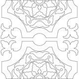 成人的独特的彩图正方形页 图库摄影