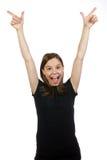 成人表示的成功妇女年轻人 库存照片