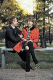 成人长凳夫妇 免版税库存图片