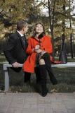 成人长凳夫妇 免版税图库摄影