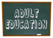 成人黑板教育 免版税库存图片