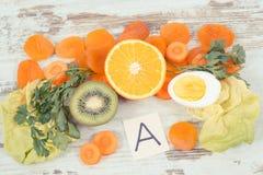 成份和吃包含维生素A,健康营养当来源矿物 库存图片