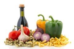 成份意大利人意大利面食 免版税库存照片