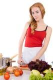 成份意大利面食妇女 免版税库存照片