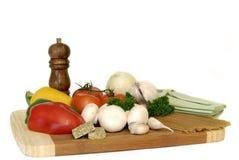 成份意大利面食蔬菜 免版税库存照片